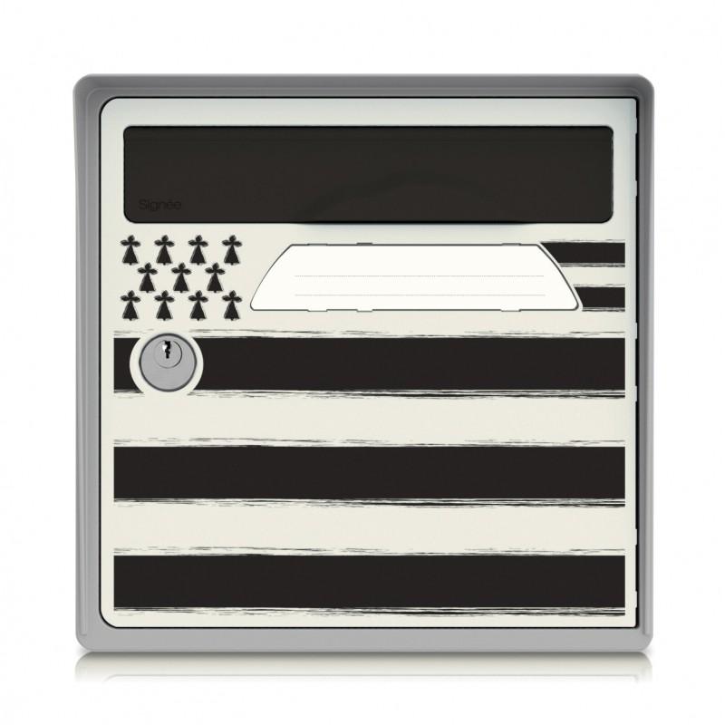 boite aux lettres murale gris bord de mer sign e. Black Bedroom Furniture Sets. Home Design Ideas