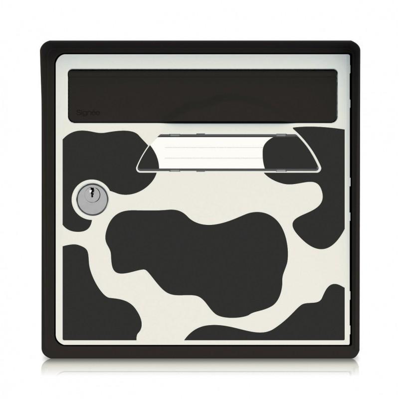boite aux lettres murale gris globe trotter sign e. Black Bedroom Furniture Sets. Home Design Ideas