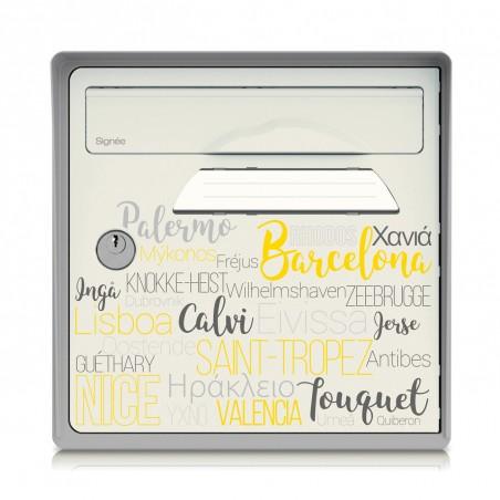 Boite aux lettres murale - gris