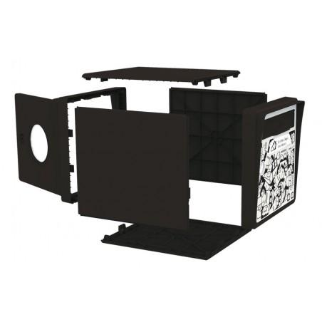 """Buzón 1 puerta – negro """"Globe-Trotter"""""""