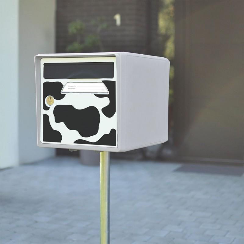 boite aux lettres 2 portes blanc ivoire sign e. Black Bedroom Furniture Sets. Home Design Ideas